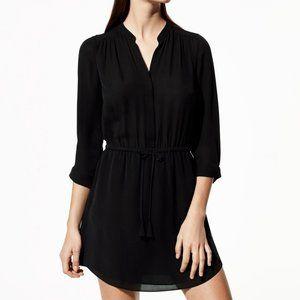 Aritzia Babaton Bennett 100% Silk Dress in Black
